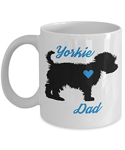 (Yorkie Dad Mug - Novelty Coffee Cup For Yorkshire Terrier Lovers - Best Christmas, Father's Day & Holiday Gift Item Idea For Men Teacup Dog Owners - Novelty Pet Quote Statement Accessories)