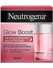Neutrogena Glow Boost Revitaliserende nachtverzorging (50 ml), regenererende nachtcrème met neoglucosamine en mineralen, regenereert de huid 's nachts en versnelt de natuurlijke celvernieuwing