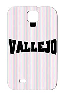 Vallejo Black Protective Hard Case For Sumsang Galaxy S4 Usa Cities Countries USA Vallejo Us I City City Heart Love
