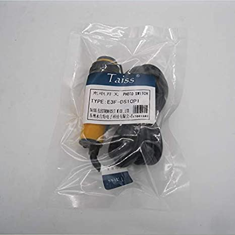 Taiss//Proximity Switch M18 Infrared Ray Diffuse Reflection Photoelectric Switch Sensor Optical Three Lines NPN NO Inductive Distance 10 cm 6-36VDC E3F-DS10C4