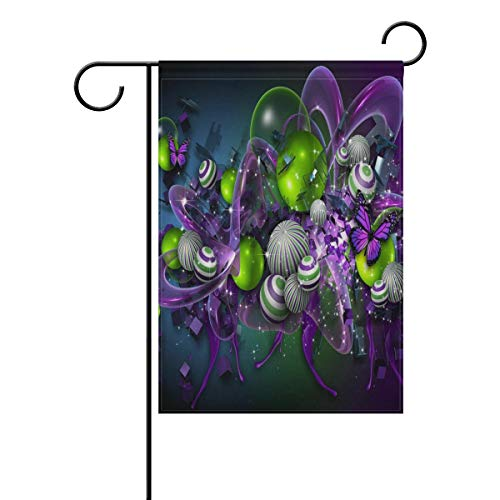 Pingshoes Abstract Butterfly Billiards Garden Flag Indoor & Outdoor Decorative Flags for Parade Sports Game Family Party Wall Banner Season Porch Lawn 28