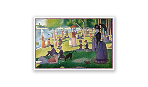 A Sunday Afternoon on The Island of La Grande Jatte - Georges Seurat - Fine Art Collections - 24x16 Matte Poster Print Wall Art (A Sunday Afternoon On The Grande Jatte)
