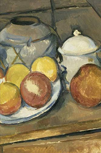 (Art Journal: Paul Cézanne - Straw-Trimmed Vase, Sugar Bowl and Apples - Art Cover College Ruled Notebook | 110 Pages )