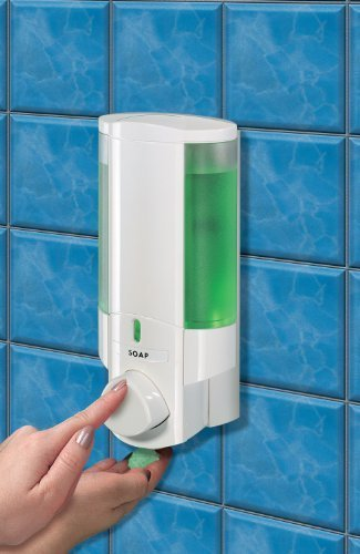 Aviva Single Soap- Shampoo - Gel Dispenser - White by Aviva by Aviva Single Dispenser