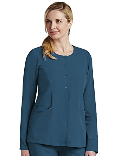 Grey's Anatomy Signature Uniforms Junior Fit 2 Pocket Round Neck Scrub Warm-up Bahama, XX-Large ()