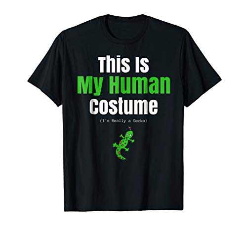 Funny Gecko Halloween T Shirt for Human Costume Parties -