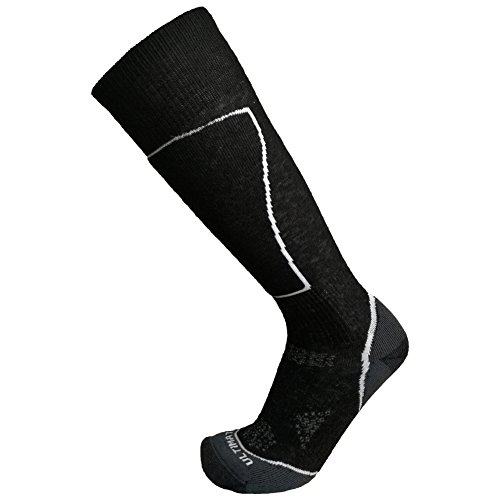 Ultimate Socks Womens Lightweight Merino Wool Ski Snowboard Performance Black Medium 7-9.5
