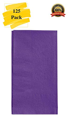 MM Foodservice 125 Count 2 Ply Paper Dinner Napkins perfect for Weddings, Parties, Dinners or Events (PURPLE)