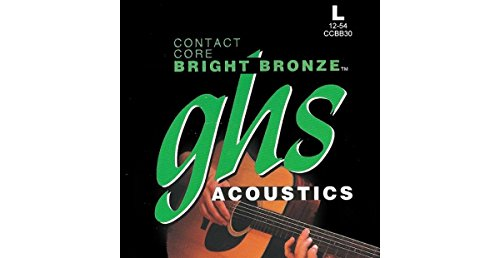 (GHS Contact Core Bright Bronze Acoustic Guitar Strings Light (12-54))