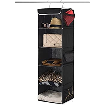Amazoncom Simple Houseware 5 Shelves Hanging Closet Organizer