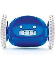 Clocky Wekker op wielen (origineel) | Extra luid voor zware slaper (robotklokkerij voor volwassenen of kinderbed) grappig, rollen, rennen, bewegen, springen (marine)