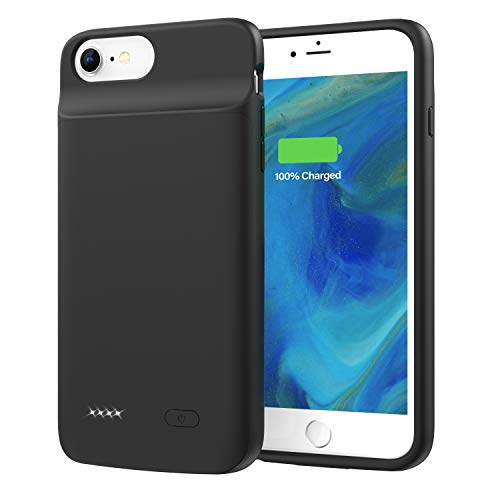 Lonlif Battery Case for iPhone 6 Plus / 6s Plus, 5000mAh Portable Rechargeable Charging Case for iPhone 6Plus / 6sPlus (Black)