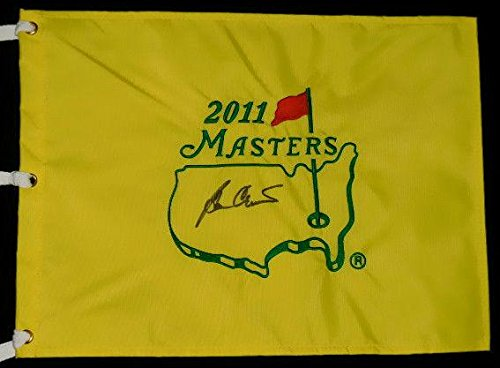 Ben Crenshaw Autographed Masters Golf Flag (w/Proof!) - Autographed Golf Pin Flags