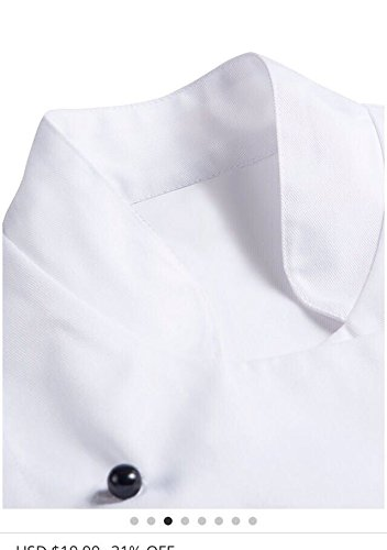 a7d30b0570f Newshine Unisex Montgomery Classic White Short Sleeve Chef Coat Large   Amazon.ca  Clothing   Accessories