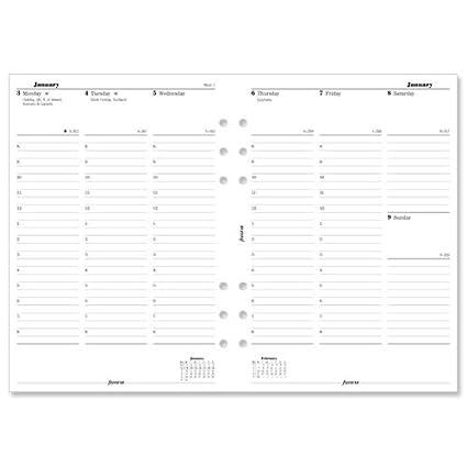 Filofax 2013 6852113 - Recambio de hojas para agenda (148 x ...