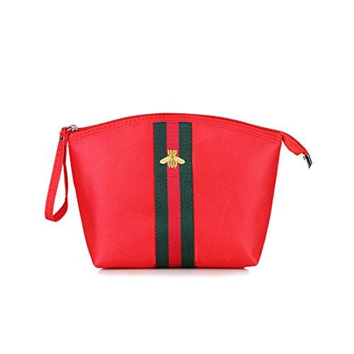 Dunland Bolsos de Mujer Bolso Hombro Bolso Bandolera Maquillaje de mano bolso de Nylon impermeable Bolso Señoras Tote Rojo
