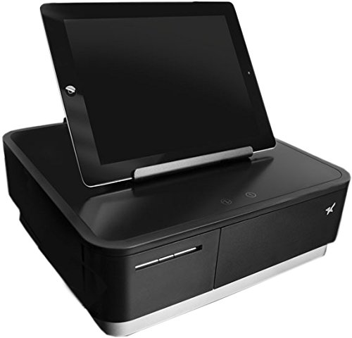 (Star Micronics mPOP Integrated Receipt Printer & Cash Drawer with Tablet Stand - Black)
