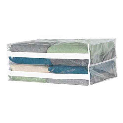 """Unclutter In Style: Clear Vinyl Sweater Bag (set/6) (Clear)(14""""W X 18""""D X 4""""H"""