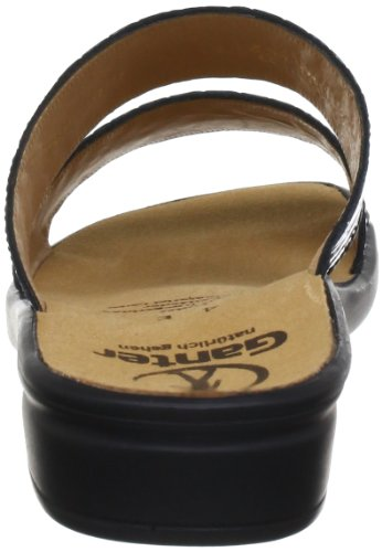 Ganter Sonnica, Weite E 5-202803-01010 - Zuecos de cuero para mujer Negro (Schwarz (schwarz/schwarz 0101))