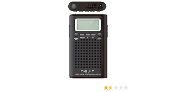 Nevir - Radio de Bolsillo nvr-134 d Negro