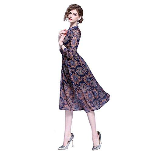 JBZYM VD79020C1 Long Skirt Waist Long Sleeves Women Dresses - Size (Natural Reed Finish Bases)