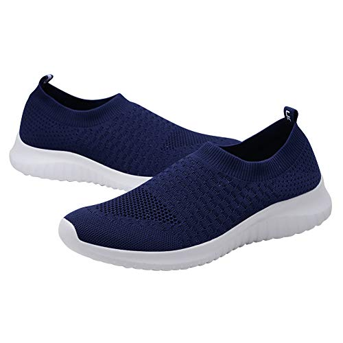Mesh Athletic Breathable Casual Shoes Walking Lightweight 8636 Navy Sneakers Women's TIOSEBON Running 1xBa7wW