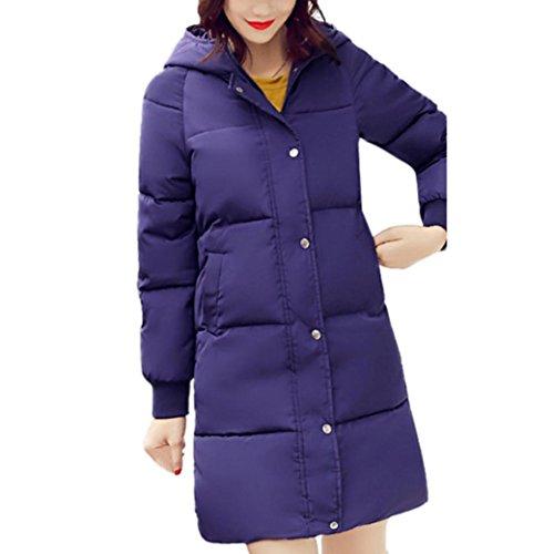 Women Jacket, Gillberry Womens Winter Warm Thicker Hoodie Coat Jacket Outwear Overcoat (Blue, XXL=Asia - Asia Sunglasses Cake