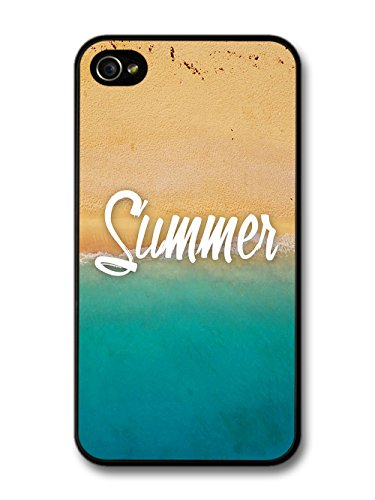 Summer Beach Coast Blue Sea Golden Sand Photography case for iPhone 4 4S