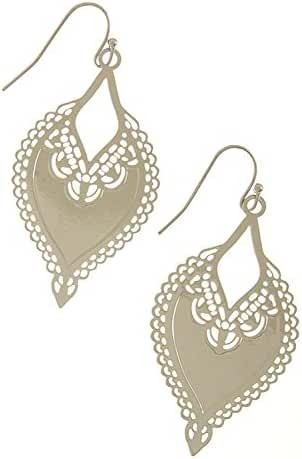 TRENDY FASHION JEWELRY DETAILED DESIGN CUT OUT EARRINGS BY FASHION DESTINATION