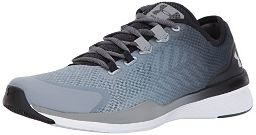 Under Armour Women's Charged Push, Rhino Gray/Steel/Metallic Silver, 8 B(M) US