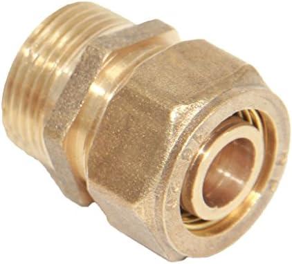 真鍮の有刺鉄線の圧縮の男性アルミニウム管付属品の糸のカップリングのコネクターの接合箇所 - サイズ2