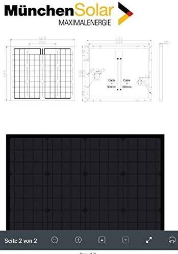 bau-tech Solarenergie 2 Stück 50Watt Solarmodule Solarpanel Monokristallin Full Black (Schwarz) GmbH