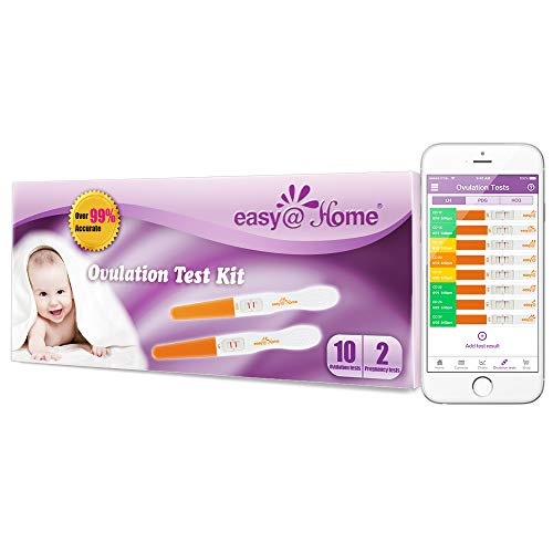 Easy@Home 10 Ovulation Test and 2 Pregnancy Test Sticks - Mi