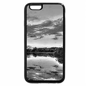 iPhone 6S Plus Case, iPhone 6 Plus Case (Black & White) - ALONG the AUTUMN LAKE