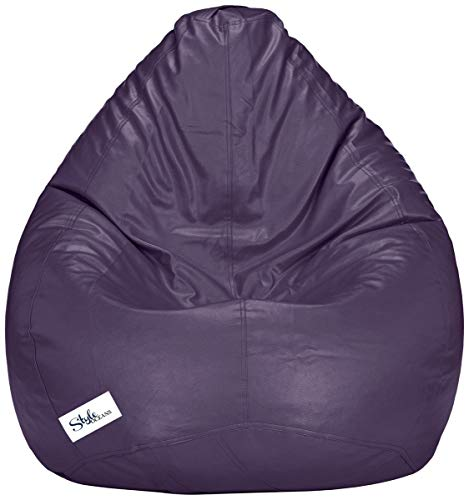 StyleOceans Bean Bag Cover Without Beans  XXXL, Purple