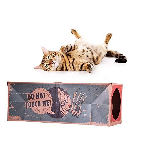 Eayse Túnel de Bolsa de Papel para Gatos, Juguete Plegable, Túnel de Dos Canales Artículos para Mascotas para Gatos Brilliant por Eayse
