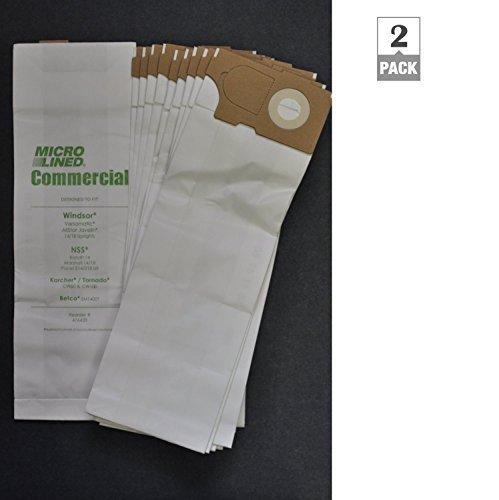 Windsor Versamatic Upright Vacuum Paper Bags (2 packs = 20 Bags total)