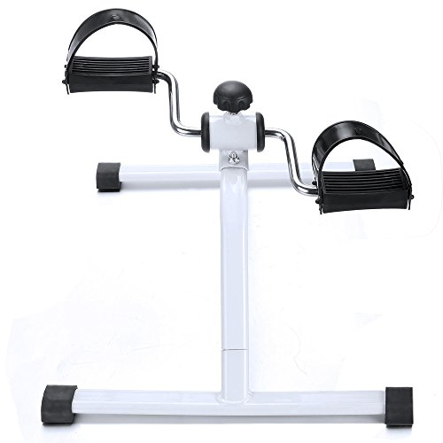 Multi-function Adjustable Leg and Arm Pedal Exerciser,Mini Fitness Exercise Equipment Peddler Machine Physical Therapy Pedal Exercise Bike For Indoor Use (US Stock)
