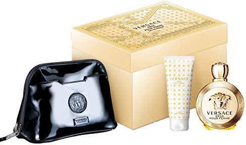 Versace Eros Eau De Parfum Giftset, 100ml + Body Lotion 100ml + Pouch: Amazon.in: Beauty