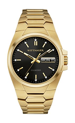 Wittnauer - WN3059 Gold Tone Stainless Steel Black - Mens Watches Wittnauer