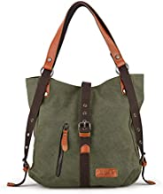 SHANGRI-LA Purse Handbag for Women Canvas Tote Bag Casual Shoulder Bag School Bag Rucksack Convertible Backpac