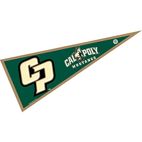 College Flags and Banners Co. Cal Poly Mustangs Pennant Full Size Felt