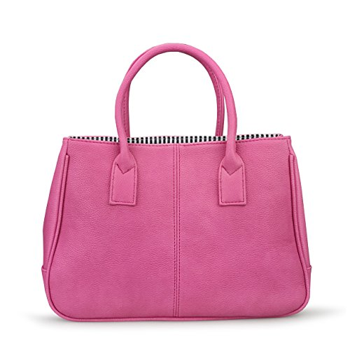 Tote Pink Fabric Handbags - 6