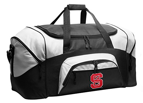 Large NC State Wolfpack Duffel Bag NC State Gym Bags or Suitcase by Broad Bay