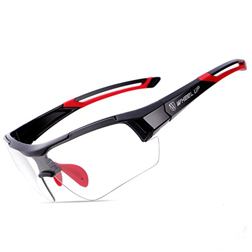 Goggles WD Photochromic Glasses Riding Sports Discoloration Len Sunglasses Windproof Goggles - (Color: Red)