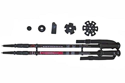 Ossa Outdoor Gear Ultra Grip Lightweight/Collapsible Trekking Poles W/Anti-Shock and Power Lock Technology by Ossa Outdoor Gear