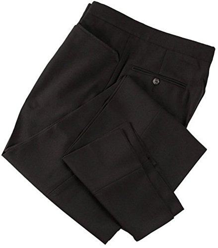 Smitty Men's Basketball Premium 4-Way Stretch Flat Front Officials Pants - Western Cut Pockets (Black, 31)