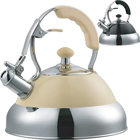 CREAM 3.5L STAINLESS STEEL WHISTLING