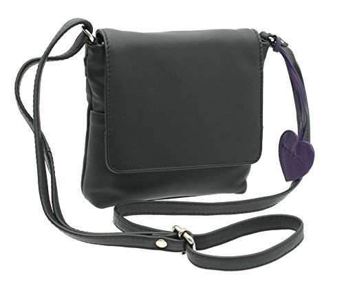 ANISHKA 75 Shoulder Red Body 772 Black Leather Leather Bag Collection Compact Mala Cross BUw56qnv