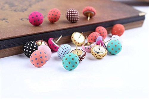 Yalis 36 Pcs Creative Thumbtacks Colorful Decorative Pushpins for Home, Office Cork Board, Plasterboard, Photo Wall, Assorted Color